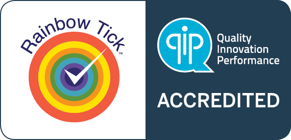 QIP Rainbow Tick Accredited Logo